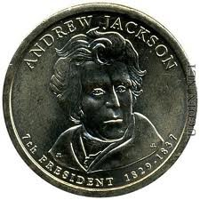 Us Presidents Dollar Coins - 2008-P Andrew Jackson Presidential Dollar Coin (1829-1837), 7th U.S. President