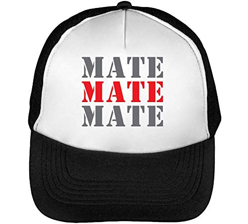 Mate Slogan Beisbol Blanco Gorras Hombre Life College Mate Funny Mate Night Negro Snapback rnfr1