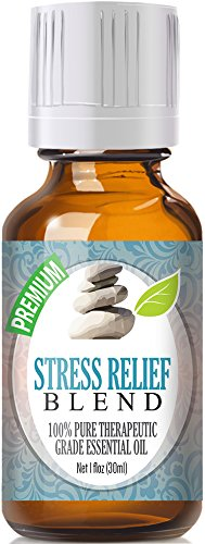 Stress Relief Blend 100% Pure, Best Therapeutic Grade Essential Oil - 30ml / 1 (oz) Ounce - Bergamot, Patchouli, Blood Orange, Ylang Ylang, Grapefruit