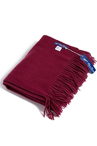 Fishers Finery Cashmere Blanket Cabernet