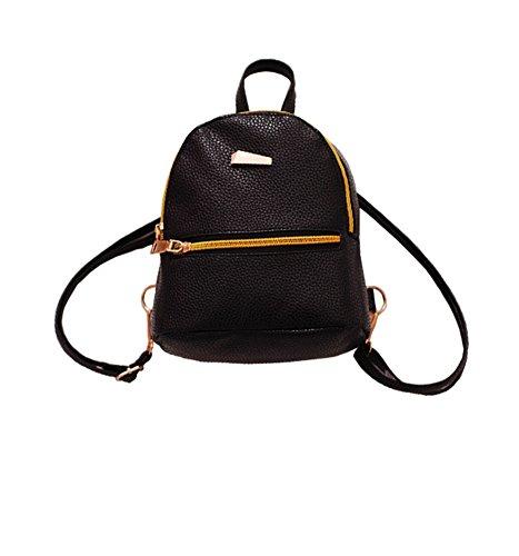 ModaKeusu Casual Fashion School Leather Backpack Shoulder Bag Mini Backpack for Women - Name Womens Black