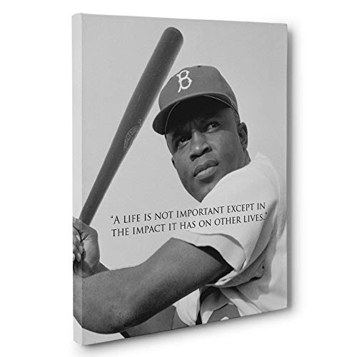 Jackie Robinson Motivation Quote Canvas Wall Art