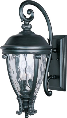 Maxim Lighting 41426WGBK Camden VX-Outdoor Wall Mount 3-Light (Camden Vx 3 Light)