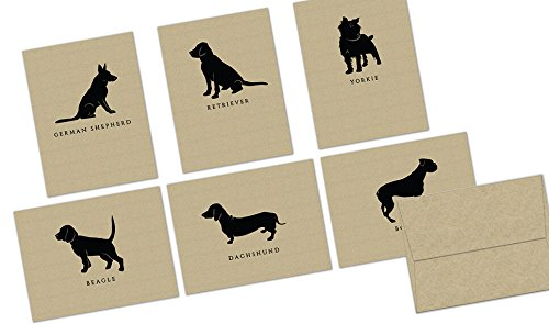 72-note-cards-kraft-canines-set-blank-cards-kraft-envelopes-included