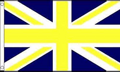 (Shrewsbury Town Union Jack Flag 5'x3' (150cm x 90cm) - Woven Polyester)