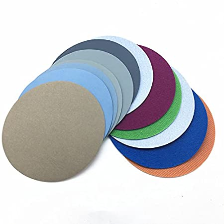 60pcs Sand Paper Mixed Set With 6 Inch Abrasives Hook And Loop Sanding Pad
