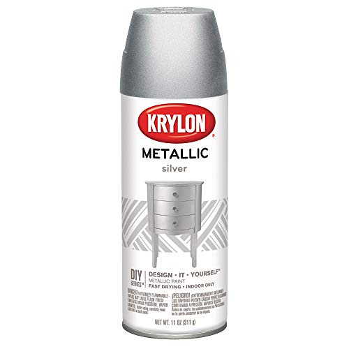 - Krylon K01406 Brilliant Aerosol, 11-Ounce, Silver Metallic Finish