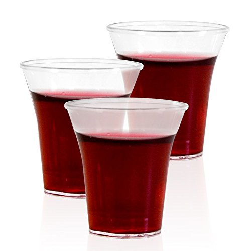 Max Communion Cup | Clear 1000pcs Disposable 1.7oz Communion Glass Cup Set | Durable Food Grade PE for Church Wine Whiskey Sampling Shot Juice Social Gathering Wedding Celebration Party | 1377 (Silver Communion Cup compare prices)