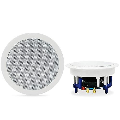 Herdio 5.25 Inches 300 Watt Ronde Bluetooth Plafond Speakers 2 Way Flush Mount Stereo Geluid Badkamer Speaker Voor…
