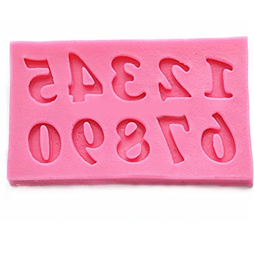 YIJIA Eco-Friendly Bakeware Cake Tools Number 0-9 Silicone Mold Baking Cake Cupcake Biscuit Cookie Chocolate Moulds Moldes De Silicona