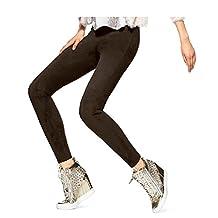 Hue Women's Ultra Suede Leggings X-Large Espresso