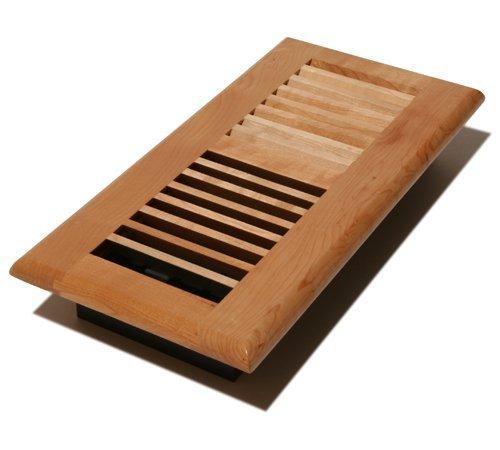 Decor Grates WML410-N 4-Inch by 10-Inch Wood Floor Register, Natural Maple by Decor Grates by Decor Grates
