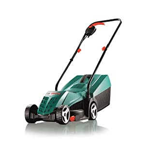 Bosch Rotak 32R Electric Lawnmower (1200 W, Cutting width: 32 cm, In carton packaging)