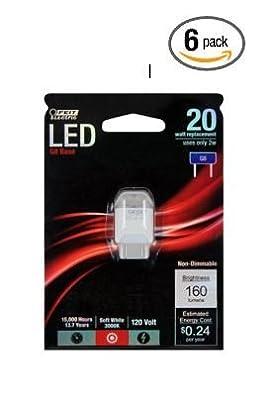 Bulb Led 120v G8 2w/20w Repl- (6 Pack)