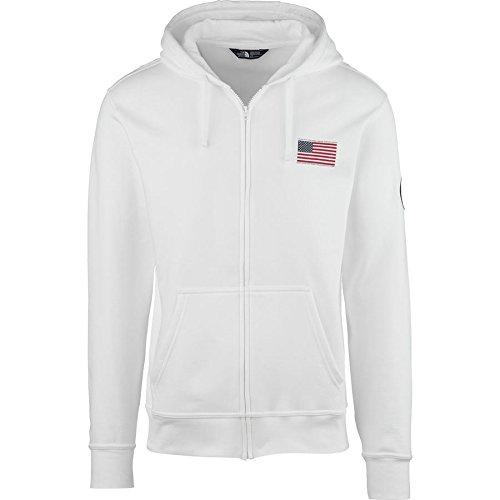 The North Face Men's Usa Full Zip Hoodie Medium TNF White