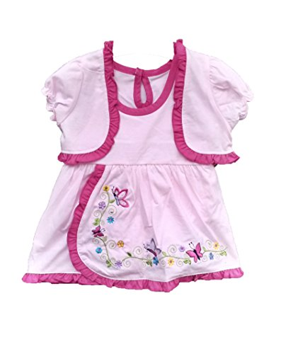 (Baby Girl or Toddler Dress with Jacket and Bloomers in Pink (6-9 Monts))