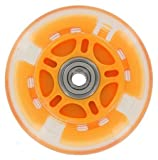 100mm In-line skate wheel with LED Lights - Orange PolyUrethane