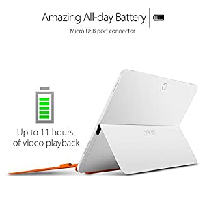 """ASUS T102HA-C4-WH Transformer Book 10.1"""" 2 in 1 Touchscreen Laptop, Intel Quad-Core, White, Pen and Keyboard Included"""