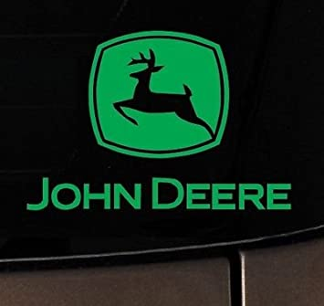John Deere Tractor Vinyl Decal Sticker Truck White County Hunting Car Window Part 41