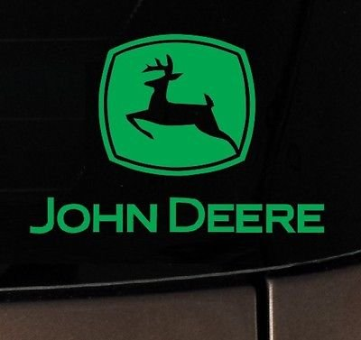 John Deere Tractor Vinyl Decal Sticker Truck White County Hunting Car Window