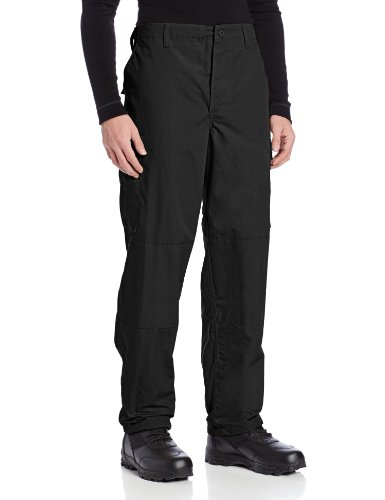 - Tru-Spec Men's Polyester Cotton Rip Stop BDU Pant, Black, 3X-Large