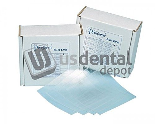 KEYSTONE - Soft Eva - .060in ( 1.5mm ) - 25pk - 5in x 5in sheets - CLE 101158 Us Dental Depot