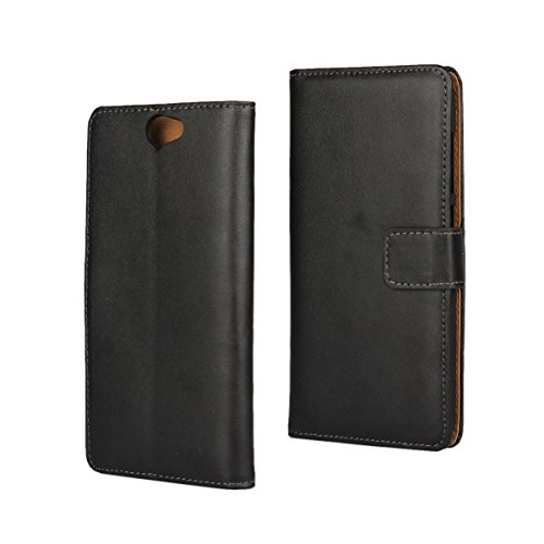 HTC One A9 Case,iCoverCase Premium Leather Case [Kickstand & Magnetic Closure] [Card Slot] Shockproof Folio Flip Wallet Leather Case [Slim Fit] for HTC One A9 5''-Black