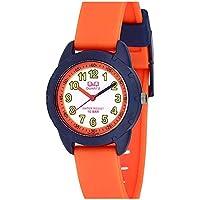 Relógio Infantil Masculino Laranja e Azul Ponteiro Original