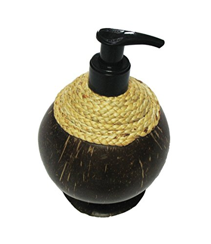 Seaworld Orlando Christmas Ornaments - Set 2 Exotic Elegance Liquid Dispenser Pump Refillable Empty Coconut Shell Bottle. Free 1 Pump