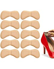 Heel Grips Pads Liner for Loose Shoes,Leather High Heel Pads for Shoes Too Big,High Heel Inserts for Women Men Anti Slip Blister,5 Pairs