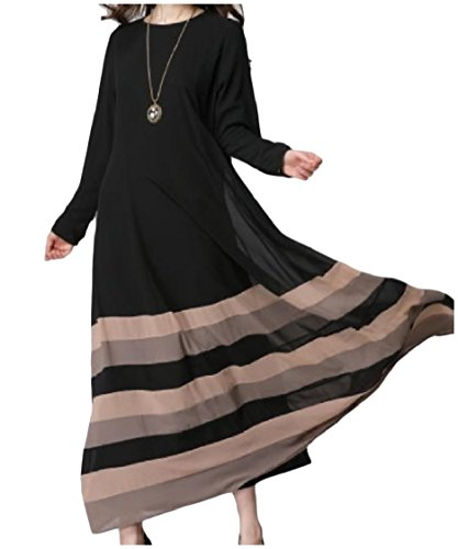 Coolred Muslim Rainbow Islamic Women Plus Abaya Black Size Sleeve Long arqfFa