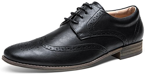 Black Oxford Brogue - JOUSEN Men's Dress Shoes Wingtip Brogue Oxfords (11.5,Black)