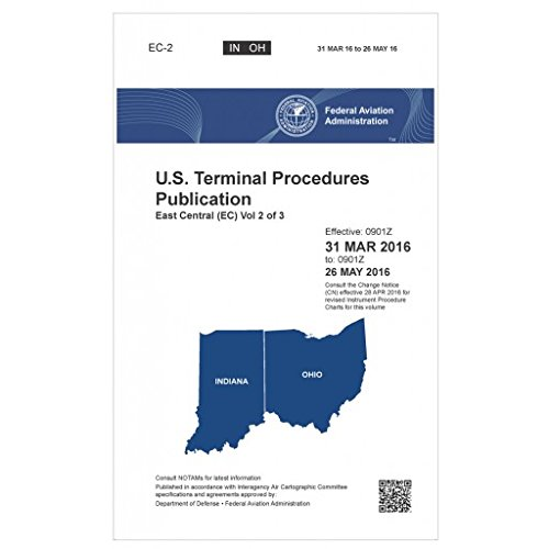 FAA IFR Terminal Procedures Bound East Central (EC-2) Vol 2 of 3 (Always Current Edition)