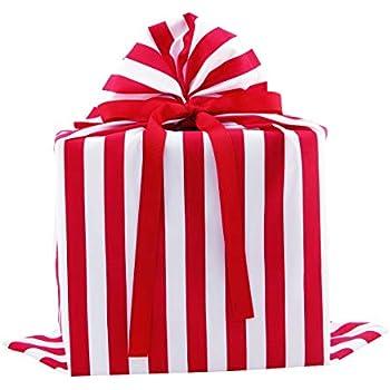 Amazon.com: Reutilizable Bolsa de regalo de Navidad con ...