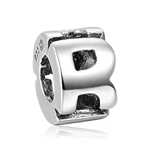 Fall New Arrival Alphabet R Charm 925 Sterling Silver Soufeel Compatible
