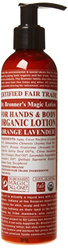 Dr. Bronner's - Organic Lotion (8 Ounce) - Body Lotion and Moisturizer, Certified Organic, Soothing for Hands, Face and… 1 USDA ORGANIC & FAIR TRADE INGREDIENTS: Dr. Bronner's Organic Lotions are formulated with organic jojoba oil to heal & soothe, organic coconut oil to moisturize, organic hemp & avocado oils to keep skin smooth & supple. OK! ONLY THE PUREST, ORGANIC ESSENTIAL OILS & INGREDIENTS: Dr. Bronner's is committed to providing the purest ingredients for our customers. That's why only the finest organic essential oils are used for fragrance—breathe deeply! GENTLE ENOUGH FOR MOST SKIN TYPES: Great for sensitive, dry, rough, or combination skin! Our Organic Lotions can be used on hands, face, body & everywhere! Give your skin a treat with this rich, nourishing lotion—massage deeply!