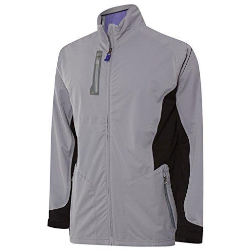 adidas 2015 Climaproof Advance Rain Full Zip Waterproof Mens Golf Jacket Mid Grey Small ()