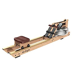 Well-Being-Matters 41UG6CjuaJL._SS300_ Mr. right Water Rowing Machine for Home Use,Oak Wood Water Rower with Customizable Bluetooth LCD Monitor (Rower Cover…