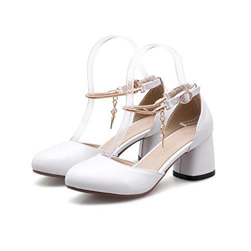36 EU AdeeSu Sandales 5 Blanc Blanc Compensées Femme w0OpX7q