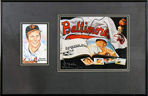 - Orioles Brooks Robinson Signed & Framed 3.5x5.5 Perez Steele Postcard BAS - Beckett Authentication - MLB Cut Signatures
