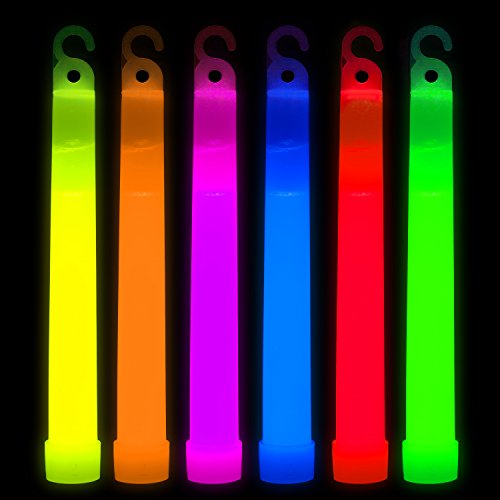 Party Sticks Glow Sticks Bulk Party 25 Pack – 6″ Premium Glow in the Dark Light Stick Necklace Party Supplies, Multicolor