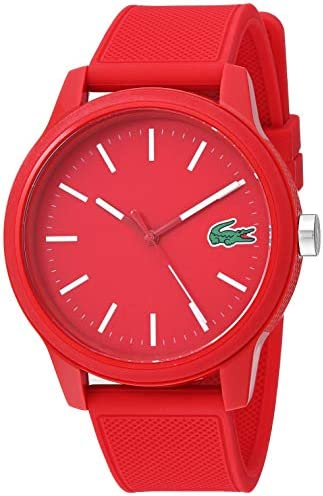 Lacoste Men's TR90 Quartz Watch with Rubber Strap, Red, 20 (Model: 2010988)