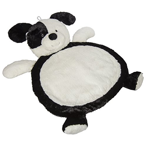 Mary Meyer Floppy - Mary Meyer Bestever Baby Mat, Black and White Puppy