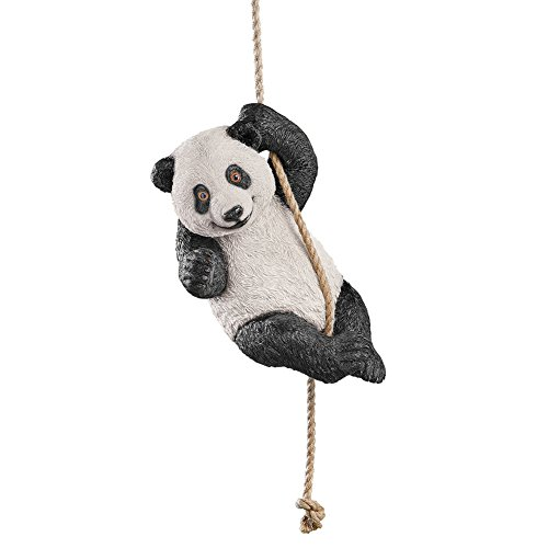 Collections Etc Swinging Panda Asian Animal Garden Décor Statue Hanging Tree Figurine