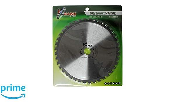 Kawapower KW007D Disco cuchilla de Widia con 40 puntas para ...