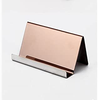 Amazon aluminum business card holder business card holders nipole modern business card display holder desktop display rack stainless steel in gold colourmoves