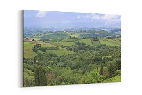 Hill Countryside Italy and Tuscany in Greve in Chianti Italy - Canvas Wall Art Gallery Wrapped 26