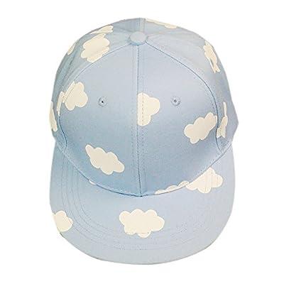 WEESDON Women's Cute Clouds Print Hip Hop Snapback Hat