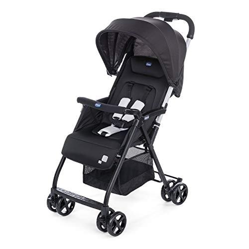Chicco Ohlala 2 - Silla de paseo ultra ligera y compacta, facil conduccion, solo pesa 3,8 kg, color negro (Black Night)