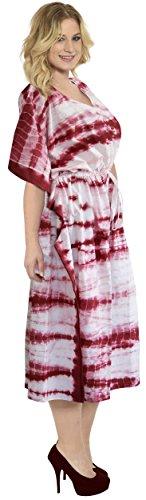 Kimono Di Indossare Spiaggia Coprire Lungo Maxi Bikini Abiti 4x Caftano Cotone Leela L t875 La Tunica Rosa 5qxIAHX